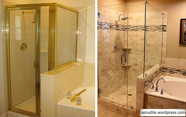 Shower Before And After Aplustile Alabama Bath Remodels